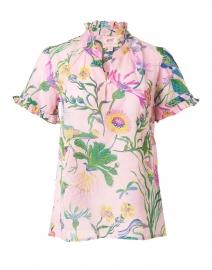 Ebisu Pink Floral Cotton Voile Blouse