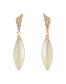 Ivory Pave Capped Petal Post Earring
