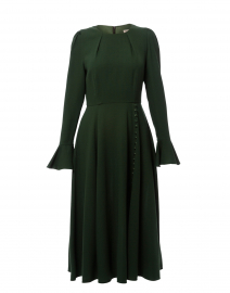 Yahvi Olive Green Tailored Crepe Dress