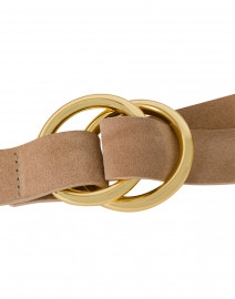 B-Low the Belt - Tumblet Sand Suede Belt with Gold Rings
