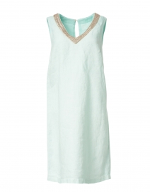 Pacific Green Embellished Linen Dress