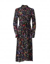 Minerva Black Floral Shirt Dress