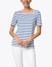 Saint James - Pleneuf White and Gitane Blue Striped Cotton Top