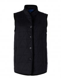 Black Quilted Knit Vest