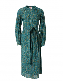 Olympia Green Floral Cotton Shirt Dress