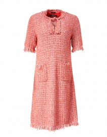 Red and Pink Tweed Dress