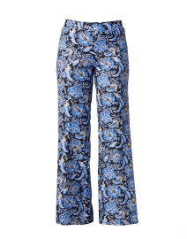 Trixie Navy and Blue Batik Floral Pant