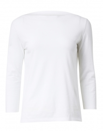 Majestic Filatures - White Cotton Silk Touch Top