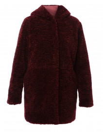 Maroon Reversible Teddy Coat