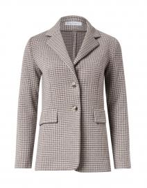 Desiderio Beige Check Wool Knit Blazer