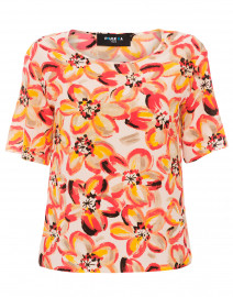 Vermillion Floral Print Silk Blouse