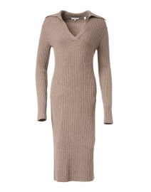 Maple Wool Cashmere Ribbed Polo Dress
