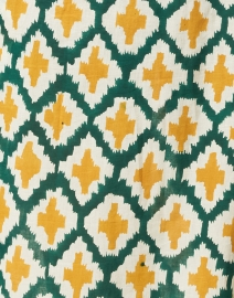 Lisa Corti - Cabana Gold and Green Printed Cotton Kurta