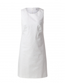 Pale Blue and White Polka Dot Shift Dress