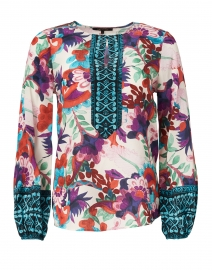 Libby Mixed Floral Print Silk Blouse