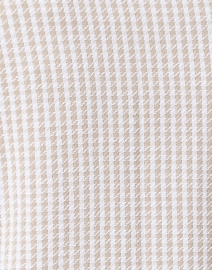 Amina Rubinacci - Epsilon Beige and Ivory Houndstooth Printed Knit Blazer