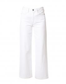 Wyckoff White Denim Wide Leg Cropped Jean