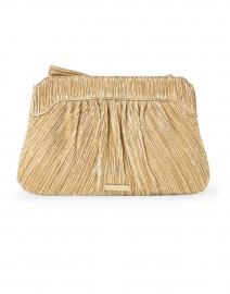 Loeffler Randall - Rayne Gold Pleated Lame Bow Clutch