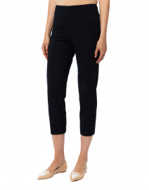 Piazza Sempione - Audrey Navy Stretch Cotton Capri Pant