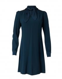 Marianne Evergreen Cady Neck Tie Dress