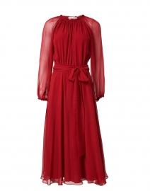 Soler - Raquel Bea Burgundy Silk Midi Dress