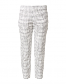 Audrey White and Black Window Pane Stretch Cotton Pant