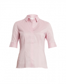 Bashini Light Rose Stretch Poplin Blouse