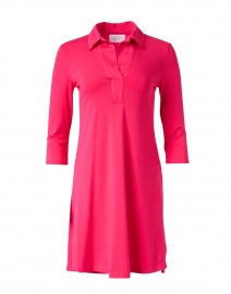 Katherine Fuschia Cotton Bamboo Henley Dress