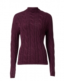 Bordeaux Cotton Cable Sweater