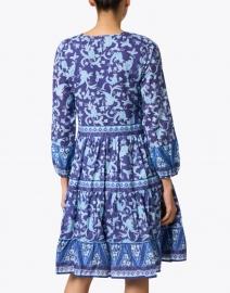 Bella Tu - Navy Blue Floral Printed Cotton Dress