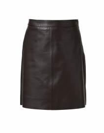 Tiro Brown Leather Skirt