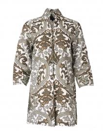 Rita Taupe Verona Printed Linen Jacket