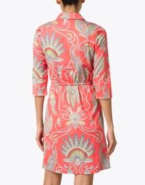 Gretchen Scott - Red Plume Printed Twist Front Dress
