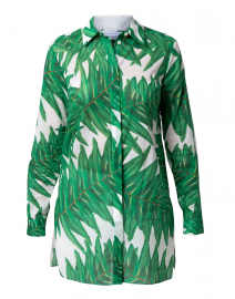 Ala Palm Printed Cotton Button Down Shirt