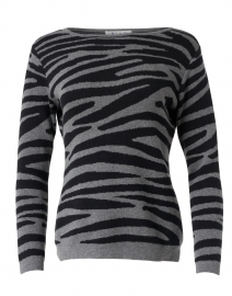Grey and Black Tiger Stripe Pima Cotton Sweater