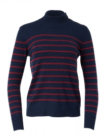 Navy and Red Stripe Cashmere Sweater