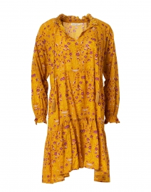 Janni Yellow Rhone Floral Cotton Dress