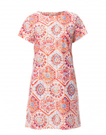 Ella Coral Mosaic Tile Printed Dress