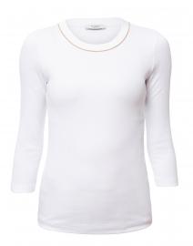 White Cotton Top with Brilliant Trim