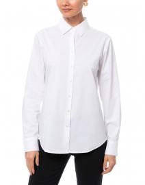 Hinson Wu - Tilda White Stretch Cotton Button Down Shirt
