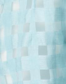 Connie Roberson - Rita Seafoam Sheer Plaid Linen Shirt