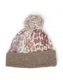 Brown Leopard Print Cashmere Hat