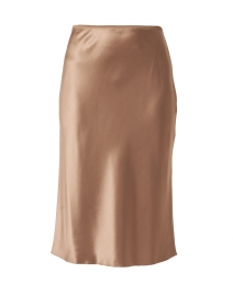 Isaak Taupe Silk Satin Skirt