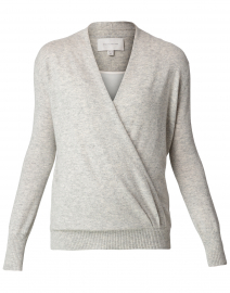 Grey Wool and Cashmere Wrap Layered Looker