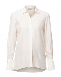 Rania Ivory Cupro Button Down Shirt