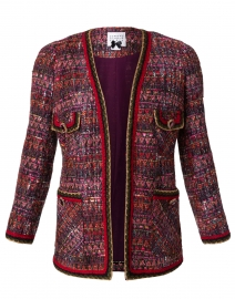 Red and Plum Tweed Jacket