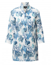Rita Blue Seashell Printed Linen Jacket