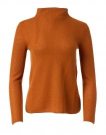 Blazing Copper Superfine Cashmere Pointelle Sweater