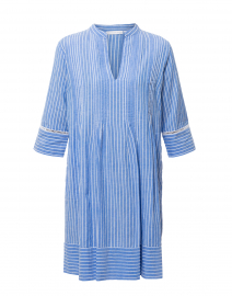 Frankie Blue and White Striped Cotton Dress