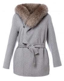 Fedora Grey Wool Cashmere Jacket